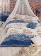 Eponj Home Çift Kişilik Nevresim Takımı Mavi